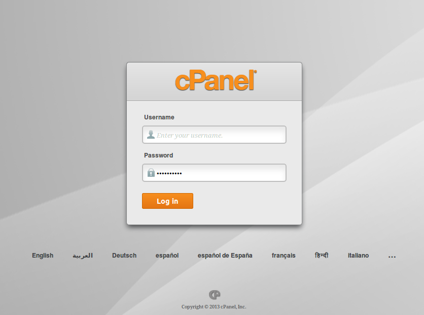 Picture of Step 1: CPanel Log-in