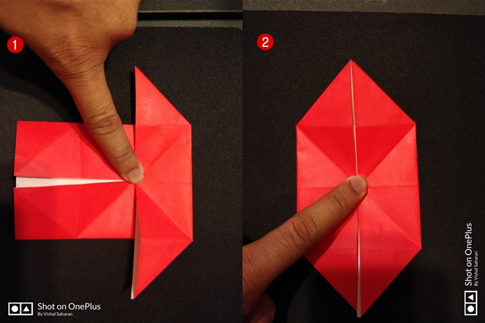 Picture of Push the Left and the Right Middle Part to the Center.