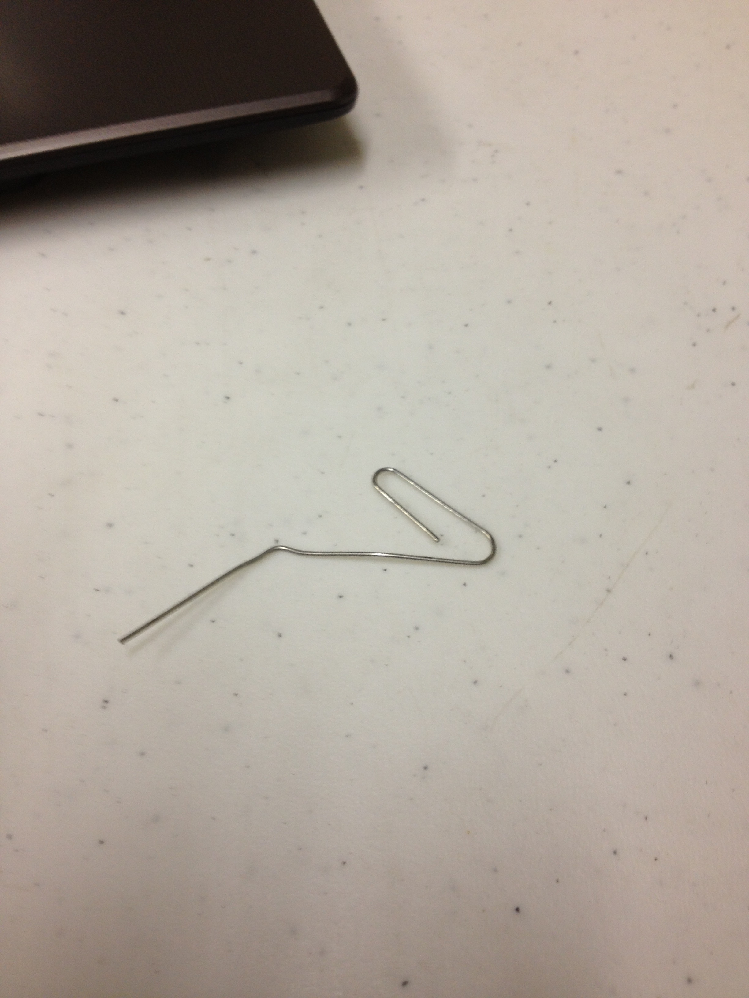 """Picture of """"The Bent Paper Clip"""""""