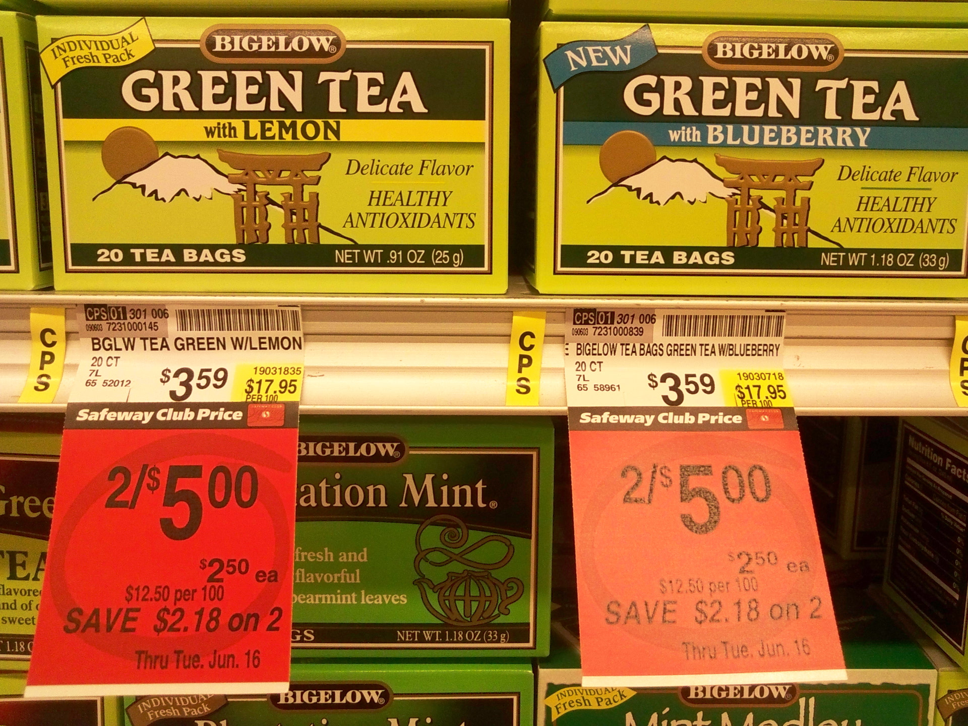 Picture of Flavored Tea: $2.50 / Gal
