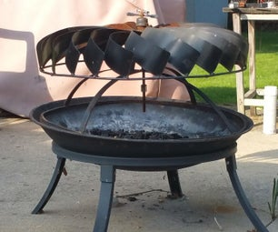 Rotating Turbine Fire Pit Cover