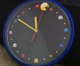 Pac-Man Themed Analog Clock