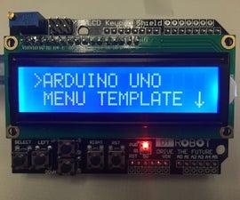 Arduino Uno Menu Template