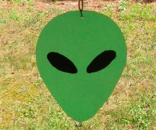 Faux Stained Glass Alien Banner & Other Projects