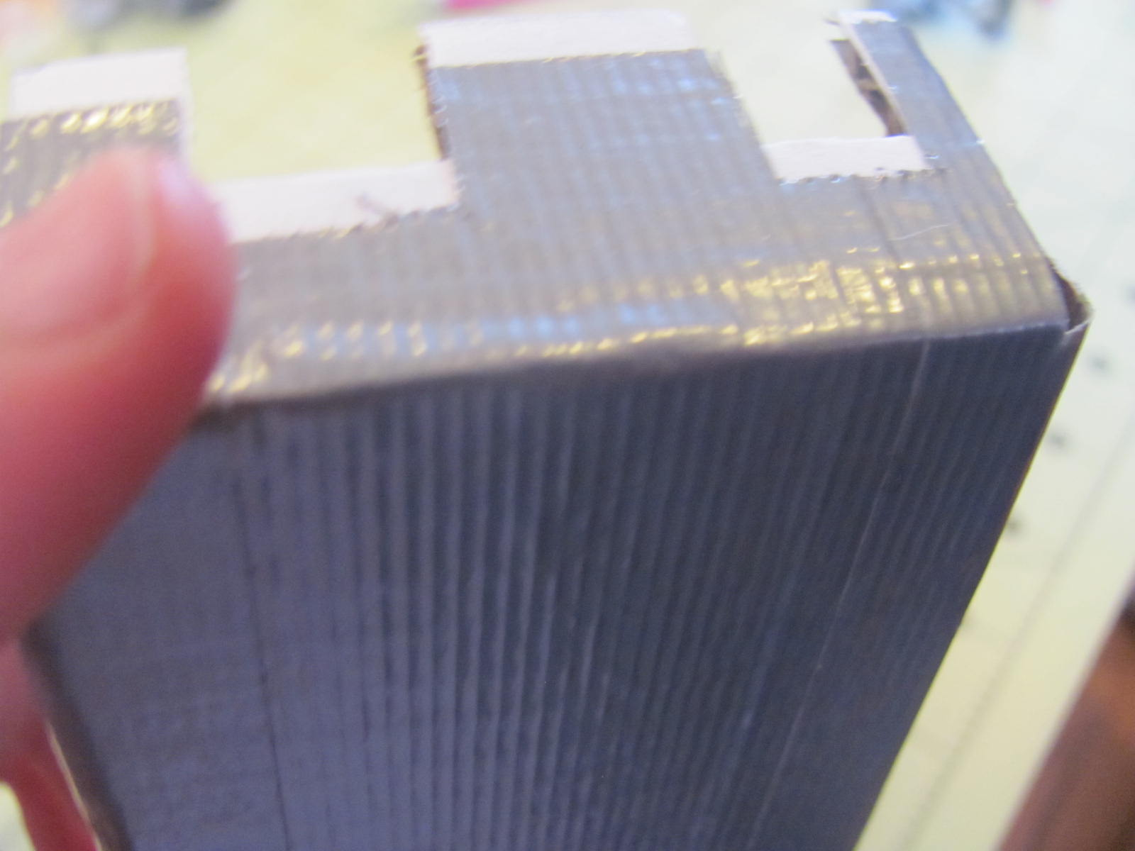 Picture of First Tape Layer With Hints