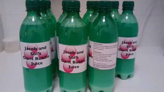 Making the Bubble Juice Concentrate Take Home Bottle (instead of 'party Bags'!)
