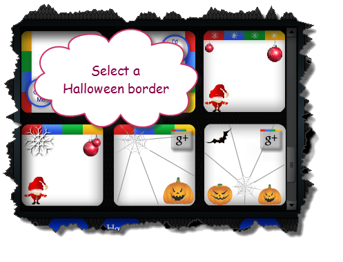 Picture of Select Your Border. Google+ Profile Image Avatar Maker - Halloween Style