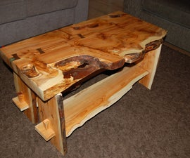 Building a yew coffee table
