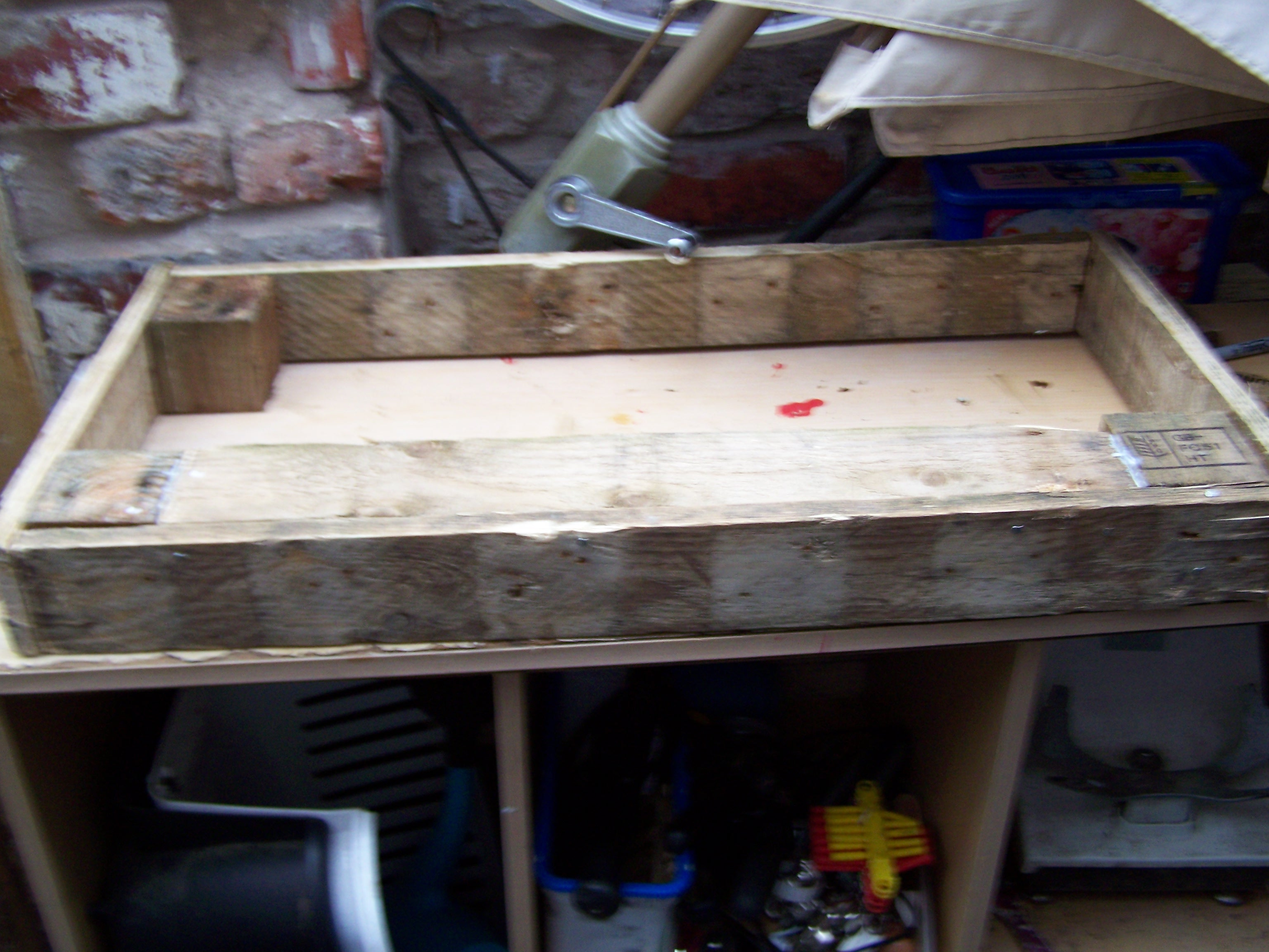 Picture of Simple Rustic  Pallet Pet Bed