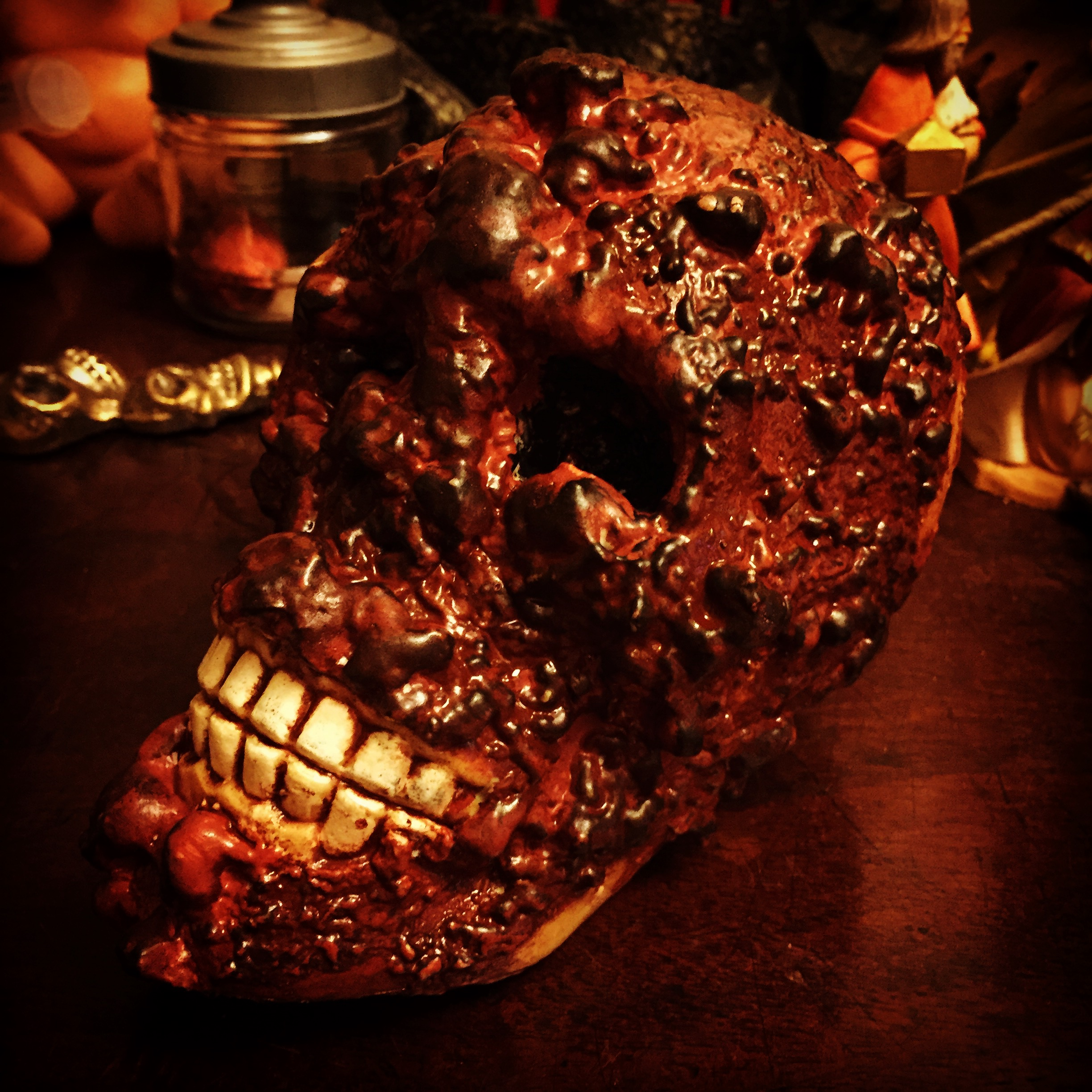 Picture of Dollar Store Skull Corpsing With Spray Foam No 1