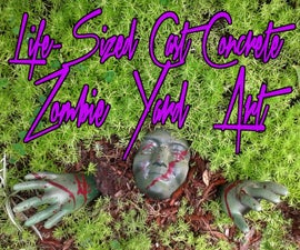 Life Sized Cast Concrete Zombie Yard Art