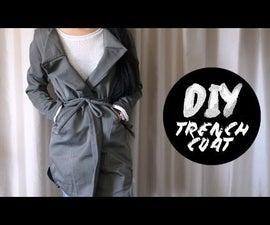 DIY Dress Pants Into Trench Coat