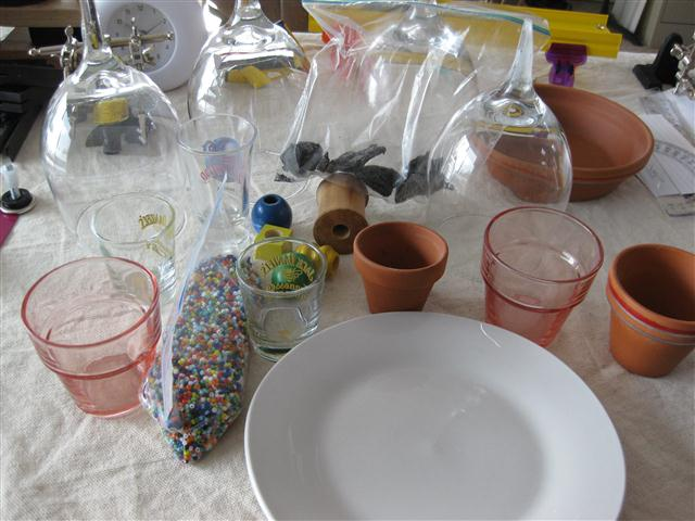 Picture of Building the Shot & Wine Glass Terrarium / Seed Starter