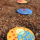 Colorful garden stepping stones