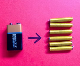 Get Six 1.5V Cells from One 9V Battery