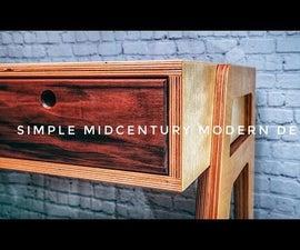Modern Plywood Desk