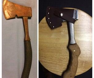 Hatchet (Solid Steel) Restoration and Wood Handle