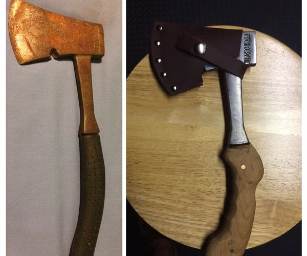 Hatchet (Solid Steel) Restoration and Wood Handle