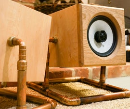 Copper Tube and Wood HIFI Speakers Build With CNC