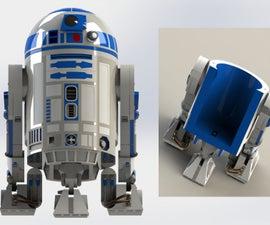 3 Feet realistic R2D2 Homie - 3D printed