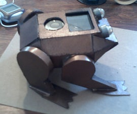bronze frog with MP4 player
