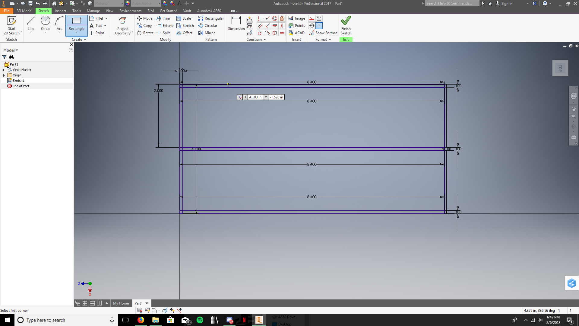 Picture of Create the Following Vertical Dividers