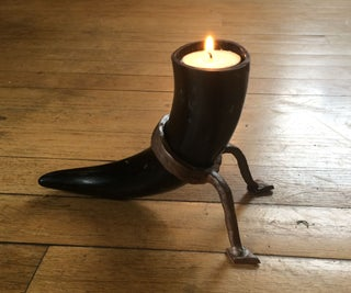 Cow Horn Candle Sconce