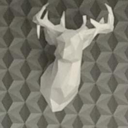 Faceted Deer Head
