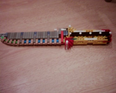 Folding Knex Knife I Made.(Credit to Dutchwarlord)