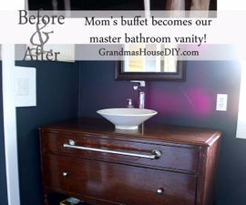 How to: Turn a Buffet into a bathroom vanity