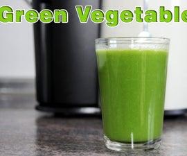Green Healthy Detox Vegetable Juice Recipe