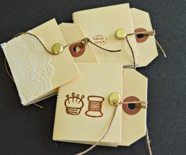 How to make little hang tag notebooks!