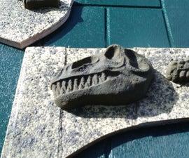 concrete T-rex