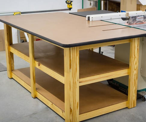 Build a Workbench / Table Saw Outfeed Table
