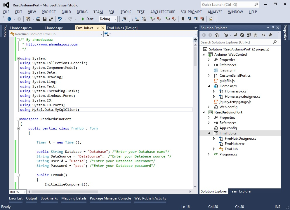 Picture of Create C# Windows Form HUB