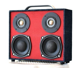 Build A Bluetooth Boombox Speaker (from scratch)