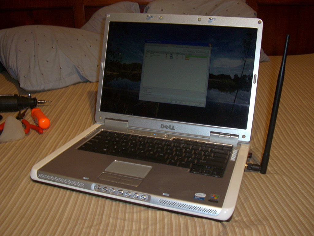 Dell Laptop WI-FI High Gain Antenna Mod, Increase Internal Network