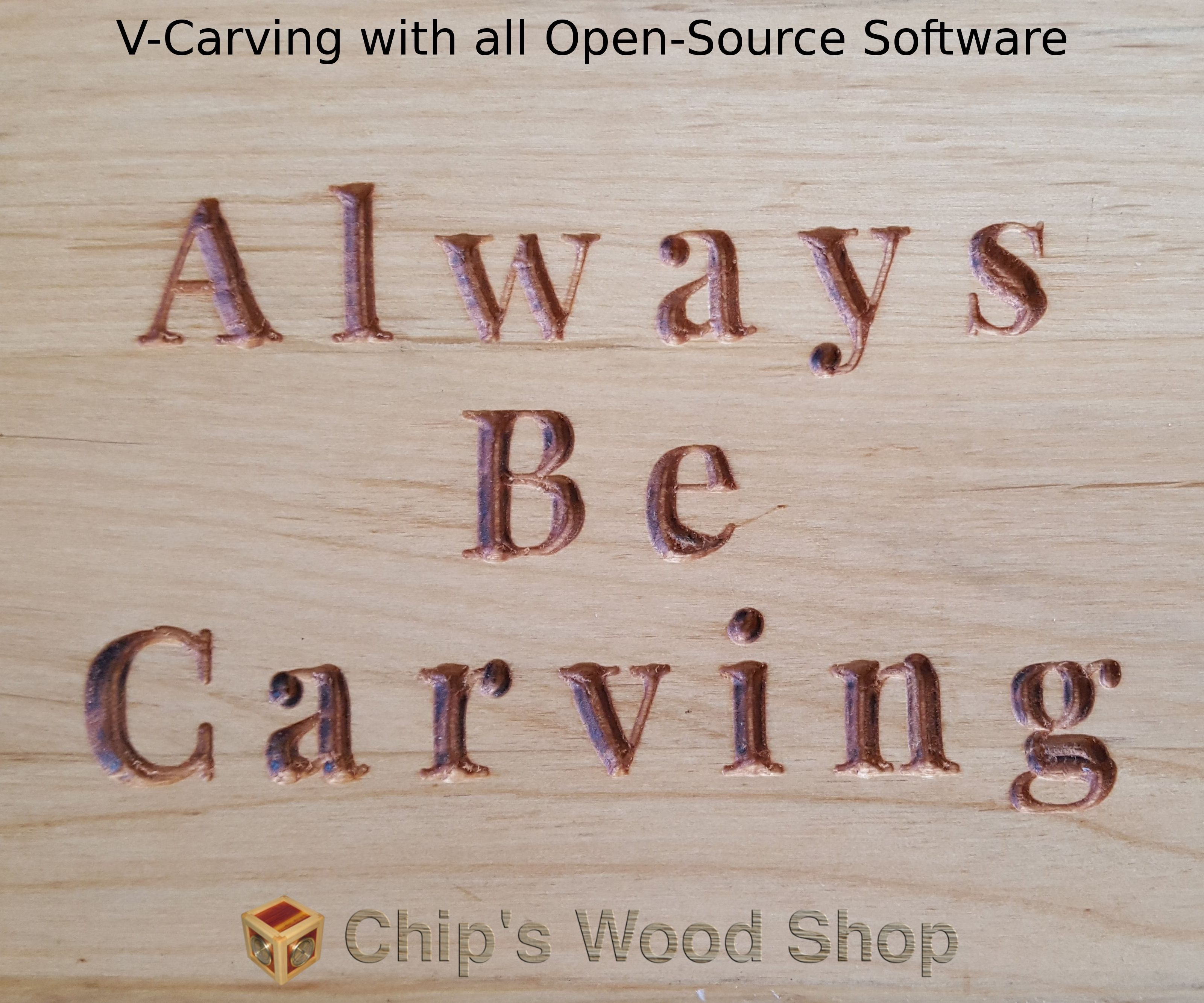 CNC Router V-Carving With All Open Source Software: 12 Steps