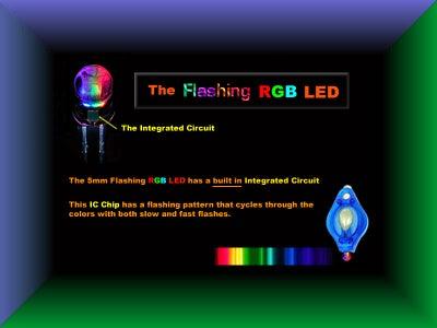 The FLASHING RGB LED