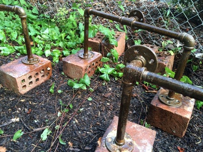 Rusting Black Iron Pipes