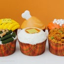 Thanksgiving Dinner Cupcakes.