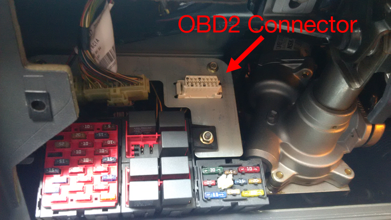 Picture of Find the OBD2 Connector