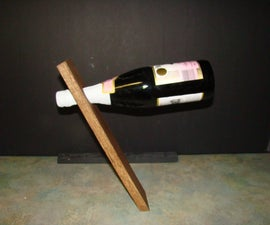 How to Make a Floating Wine Bottle Holder