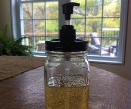 Make a Mason Jar Soap Dispenser