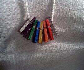 Mini Clothespin Necklace
