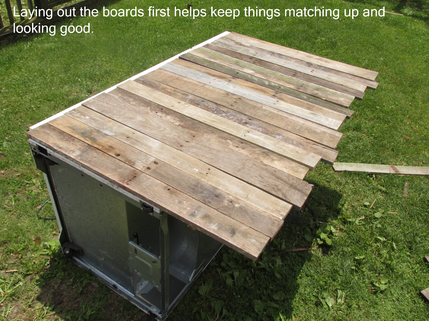 Picture of Adding the Pallet Wood Siding
