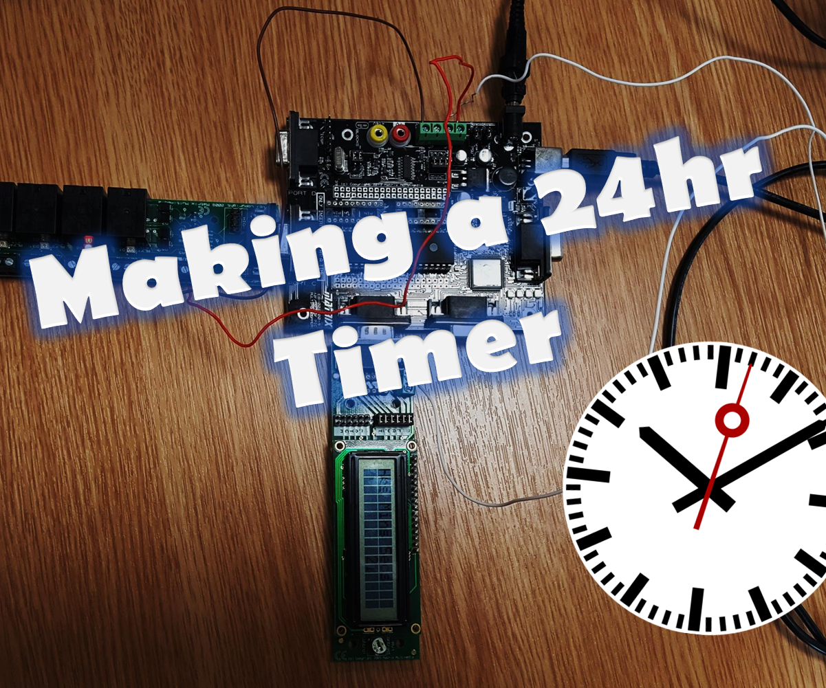 24hr Timer Coding For And Applying To A Circuit 18 Steps With 24hour Digital Clock Pictures