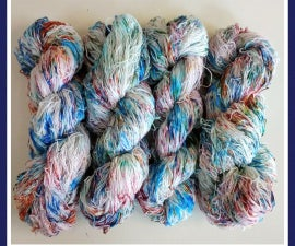 Speckled Dyed Yarn Using Fiber Reactive Dyes