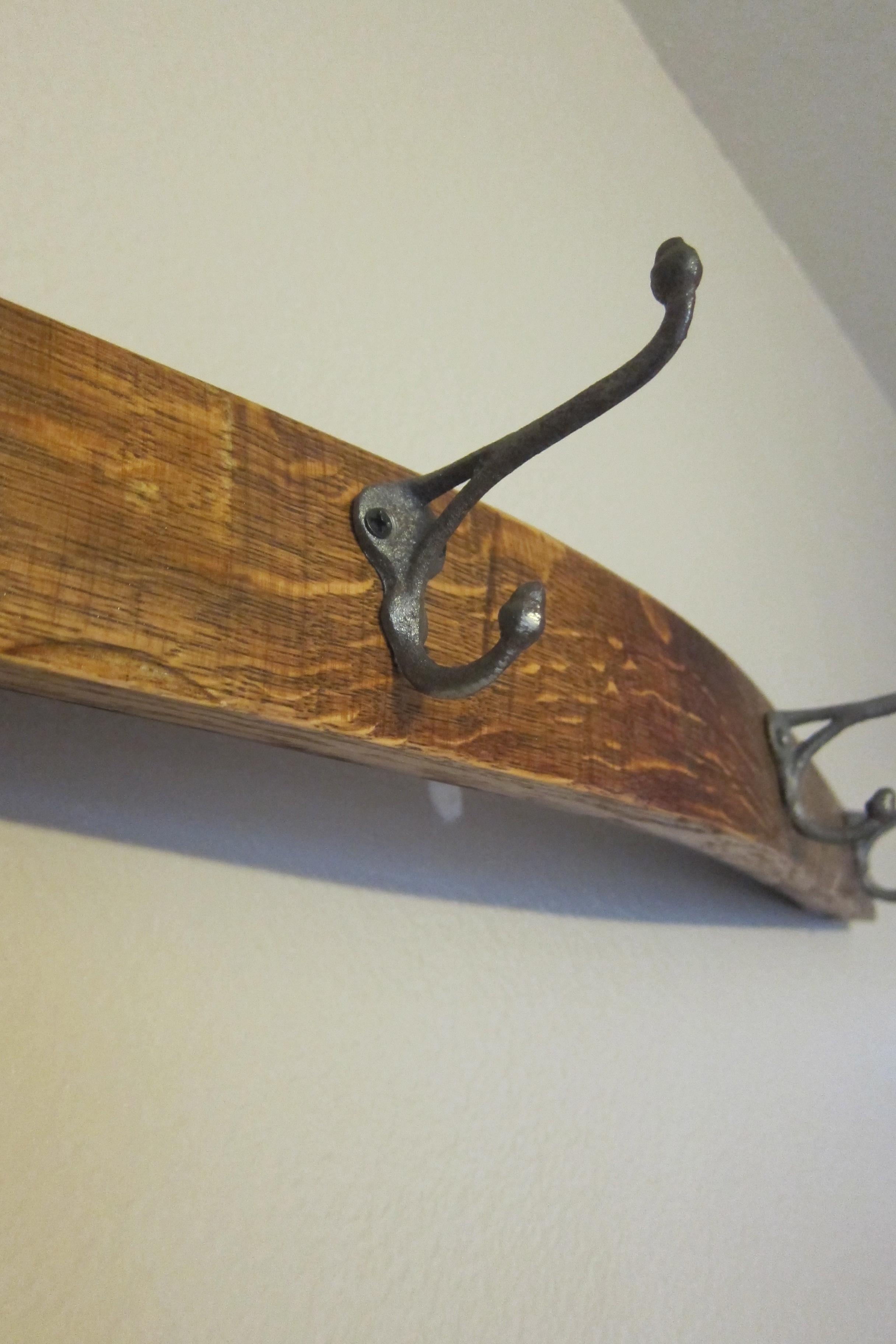 Picture of Wine Barrel Stave Coat Rack