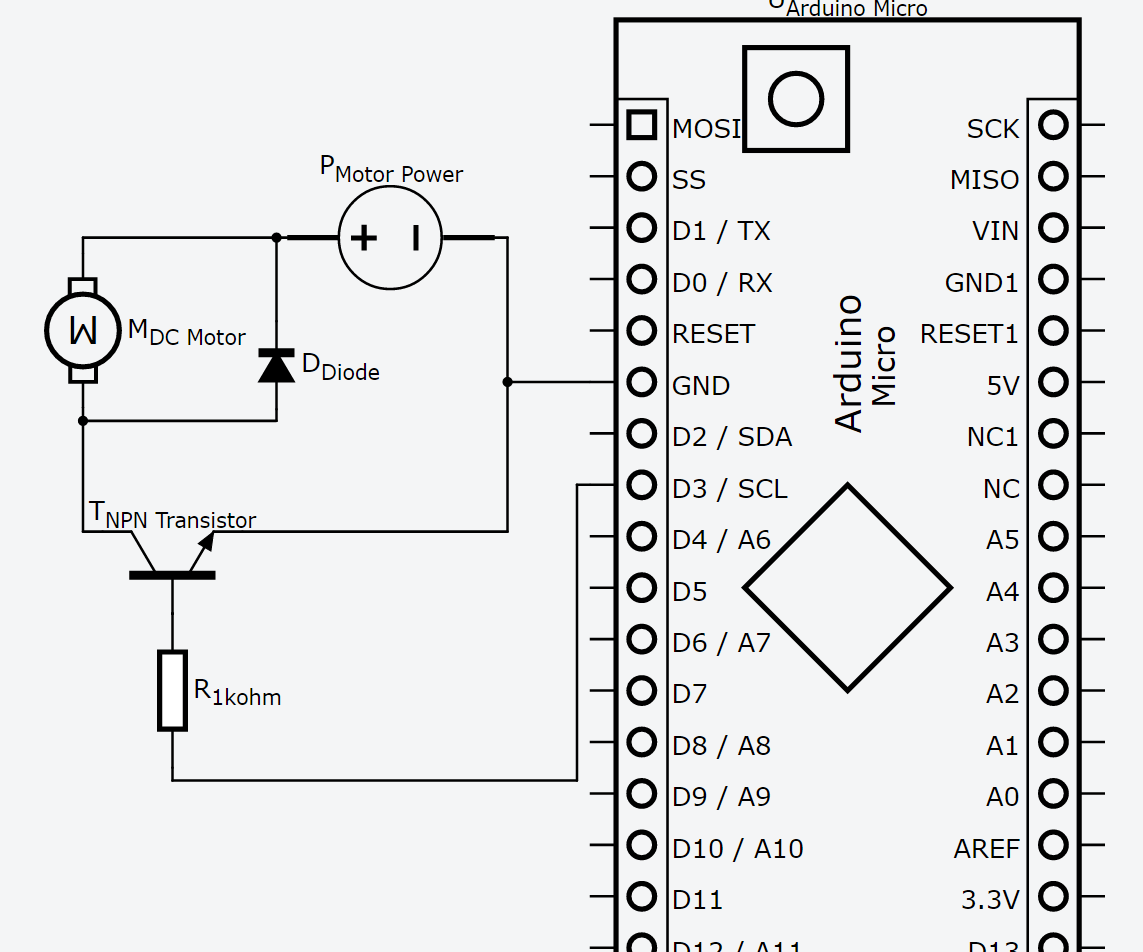 12v Motor Control With 5v Arduino And Npn Transistor As Speed Cascade 29 Boat Wiring Diagram Switch 4 Steps